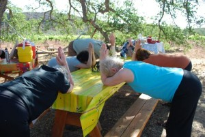 yoga at the table